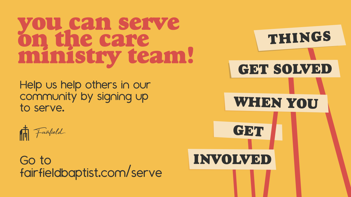 Join the Care Ministry Team!